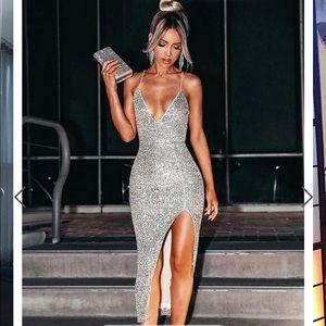 Fashion nova stars do shine sequin dress